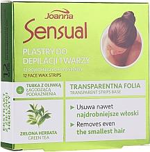 Parfumuri și produse cosmetice Benzi depilatoare pentru față cu ceai verde - Joanna Sensual Depilatory Face Strips With Green Tea Extract