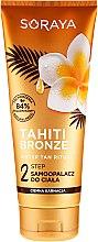 Parfumuri și produse cosmetice Loțiune autobronzantă pentru corp - Soraya Tahiti Bronze 2 Step Lotion for Dark Skin