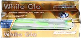 """Parfumuri și produse cosmetice Set """"Pentru fumători"""", perie Greenery - White Glo Smokers Formula Whitening Toothpaste (toothpaste/100ml + toothbrush)"""