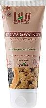 "Parfumuri și produse cosmetice Scrub pentru față și corp ""Papaya și nuci"" - Lass Naturals Papaya & Walnut Face-Body Scrub"