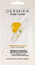 Parfumuri și produse cosmetice Mască de hidrolizare cu hidrolit de flori de portocal - Dermika Sheet Mask