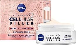 Parfumuri și produse cosmetice Cremă de zi pentru față - Nivea Hyaluron Cellular Filler +Elasticity-Reshape Day Cream SPF30