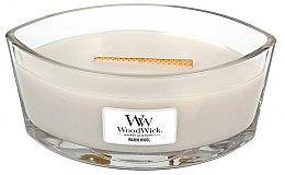 Parfumuri și produse cosmetice Lumânare parfumată în suport de sticlă - WoodWick Hearthwick Flame Ellipse Candle Warm Wool