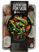 Parfumuri și produse cosmetice Set - Superfood Salad For Skin Grey Polluted And Dried Skin (mask/7x25ml)