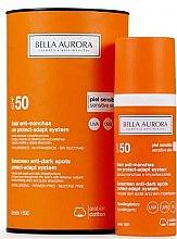 Parfumuri și produse cosmetice Fluid de protecție solară pentru ten sensibil - Bella Aurora Solar Anti-Stain Sensitive Skin SPF50+