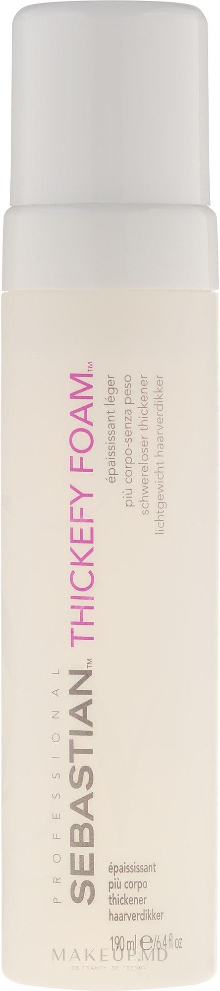 Spumă pentru păr - Sebastian Thickefy Foam — Imagine 190 ml