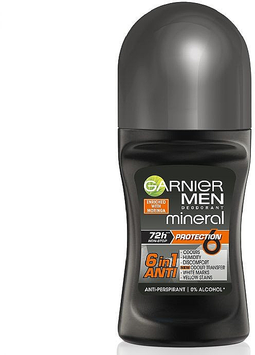 Deodorant roll-on - Garnier Mineral Men Roll On Protection 6