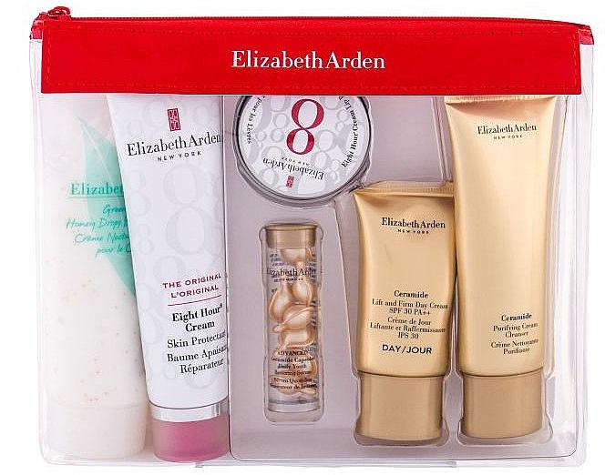 Set - Elizabeth Arden Eight Hour Cream Skin Protectant Travel Essentials Kit (b/balm/50ml+ser/3.2ml+lip/balm/13ml+face/cr/15ml+cr/50ml+b/cr/100ml) — Imagine N1