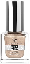 Parfumuri și produse cosmetice Lac de unghii - Golden Rose Metals Metallic Nail Color