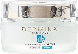 Cremă de zi pentru față - Dermika Bloq-Age Anti-Ageing Cream SPF15 — Imagine N2