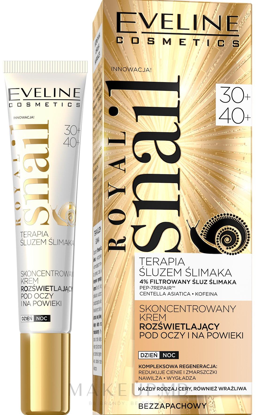 Cremă pentru zona ochilor - Eveline Cosmetics Royal Snail 30+/40+ — Imagine 20 ml