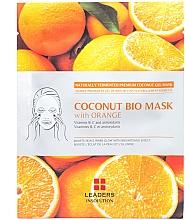 """Parfumuri și produse cosmetice Mască hidratantă pentru față """"Portocală"""" - Leader Coconut Bio Mask With Orange"""
