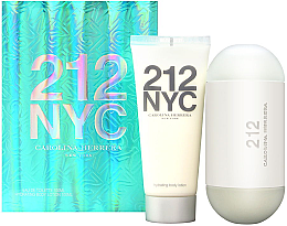 Parfumuri și produse cosmetice Carolina Herrera 212 For Women - Set (edt/100ml + b/lot/100ml)