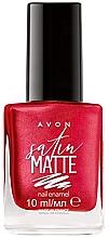 Parfumuri și produse cosmetice Lac de unghii - Avon Satin Matte Nail Enamel
