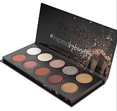 Paletă de farduri de ochi - Ingrid Cosmetics Nude Matt & Glam Palette — Imagine N2
