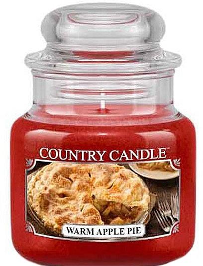 Lumânare parfumată în suport de sticlă - Country Candle Warm Apple Pie — Imagine N1