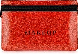 """Parfumuri și produse cosmetice Trusă cosmetică """"Glitter Pouch"""", 18x11 cm, roșie - MakeUp"""