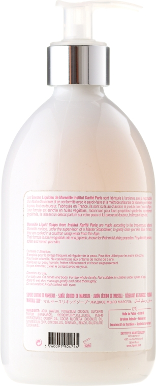 "Săpun lichid ""Trandafir"" - Institut Karite So Garden Collection Privee Rose Marseille Liquid Soap — Imagine N2"