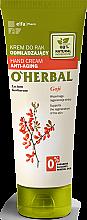 Parfumuri și produse cosmetice Cremă de mâini anti-îmbătrânire cu extract de boabe de goji - O'Herbal Rejuvenating Hand Cream With Goji Berry Extract