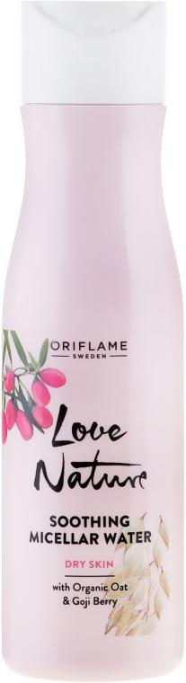 Apă micelară pentru față - Oriflame Love Nature Soothing Micellar Water With Organic Oat&Goji Berry — Imagine N1