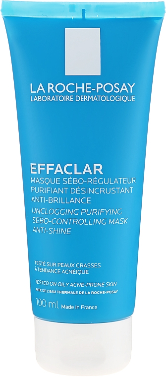 Mască de curățare pentru față - La Roche-Posay Effaclar Unclogging Purifying Sebo-Controlling Mask Anti-Shine