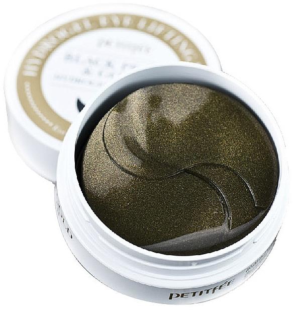Patch-uri cu aur și perle negre sub ochi - Petitfee & Koelf Black Pearl&Gold Hydrogel Eye Patch