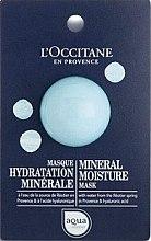 Parfumuri și produse cosmetice Mască minerală hidratantă pentru față - L'Occitane Aqua Reotier Mineral Moisture Mask (mostră)
