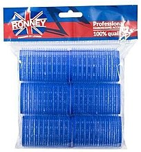 Parfumuri și produse cosmetice Bigudiuri cu arici 40/63, albastru - Ronney Professional Velcro Roller