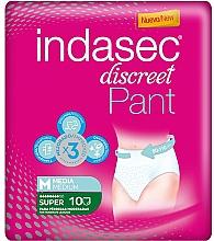 Parfumuri și produse cosmetice Absorbante, 10 buc - Indasec Discreet Pant Medium Super