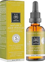 Parfumuri și produse cosmetice Ulei natural pentru întărirea și îmbunătățirea părului - Apivita Nature's Hair Miracle