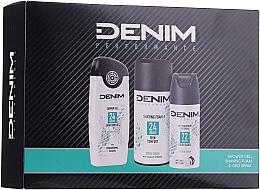 Parfumuri și produse cosmetice Set - Denim Extrem Fresh Set (deo/150ml + sh/gel/250ml + shav/foam/200ml)