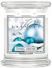 Parfumuri și produse cosmetice Lumânare aromatică, în borcan - Kringle Candle Tinsel Thyme