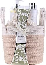 Parfumuri și produse cosmetice Set - Baylis & Harding Urban Barn (b/gel/250ml+ h/cr/100ml + sh/cream/250ml + b/cr/100ml + sponge)