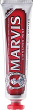"""Pastă de dinți cu xylitol """"Scorțișoară de mentă"""" - Marvis Cinnamon Mint+Xylitol Toothpaste — Imagine N2"""