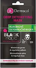 Parfumuri și produse cosmetice Mască de țesut pentru față - Dermacol Black Magic Detox Sheet Mask