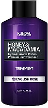 "Parfumuri și produse cosmetice Balsam de păr ""Alpine Rose"" - Kundal Honey & Macadamia Treatment English Rose"