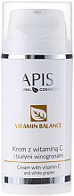 Parfumuri și produse cosmetice Cremă de față cu vitamina C și struguri albi - APIS Professional Vitamin Balance Cream With Vitamin C and White Grapes