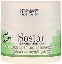 Parfumuri și produse cosmetice Cremă hidratantă cu aloe vera pentru față - Sostar Moisturizing Face Cream With Aloe Vera