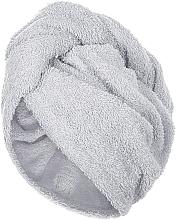 Духи, Парфюмерия, косметика Полотенце-тюрбан для сушки волос, серое - MakeUp