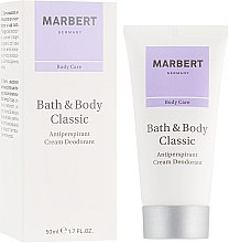 Parfumuri și produse cosmetice Cremă deodorant-antiperspirant - Marbert Bath & Body Classic Anti-Perspirant Cream Deodorant