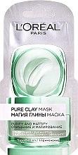 Parfumuri și produse cosmetice Mască de curățare cu argilă naturală și eucalipt - L'Oreal Paris Skin Expert (mostră)