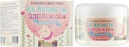 Parfumuri și produse cosmetice Пилинг-крем для лица от пигментных пятен - Elizavecca Face Care Milky Piggy Real Whitening Time Secret Pilling Cream