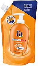 """Parfumuri și produse cosmetice Săpun lichid """"Puritate și Prospețime"""" - Fa Hygiene & Freshness Orange Scent Soap (doy-pack)"""