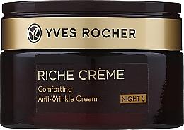 Parfumuri și produse cosmetice Cremă revitalizantă antirid, de noapte - Yves Rocher Riche Creme Anti-Wrinkle Regenerating Night Cream