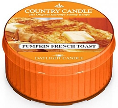 "Parfumuri și produse cosmetice Lumânare de ceai ""Pumpkin French Toast"" - Country Candle Pumpkin French Toast Daylight"
