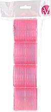 Parfumuri și produse cosmetice Bigudiuri Velcro, roz - Inter-Vion