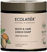 """Parfumuri și produse cosmetice Săpun pentru corp și păr """"Recuperare profundă"""" - Ecolatier Organic Aragan Body & Hair Liquid Soap"""