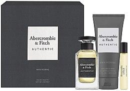 Parfumuri și produse cosmetice Abercrombie & Fitch Authentic Men - Set (edt/100ml + edt/15ml + sh/gel/200ml)