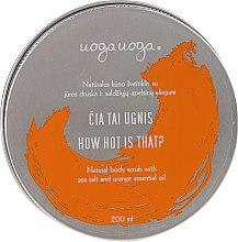 Parfumuri și produse cosmetice Scrub natural cu sare de mare și ulei de portocale pentru corp - Uoga Uoga Natural Body Scrub Sea Salt And Orange Essential Oil