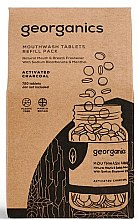 """Parfumuri și produse cosmetice Tablete pentru igiena orală """"Cărbune activat"""" - Georganics Mouthwash Tablets Refill Pack Activated Charcoal (rezervă)"""